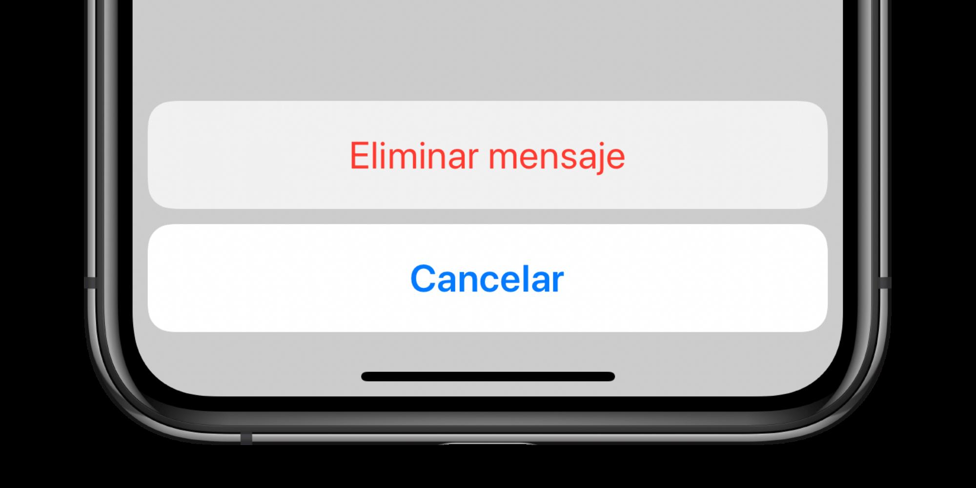Confirmación antes de borrar el correo electrónico - Hoy en Apple